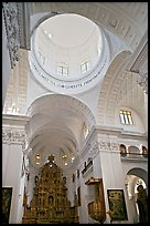 Inside dome of Church of St Cajetan, Old Goa. Goa, India