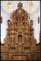 Altar, Church of St Cajetan, Old Goa. Goa, India