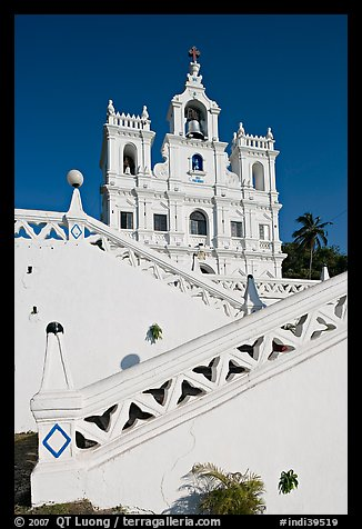 Church of our Lady of the Immaculate Conception, Panaji (Panjim). Goa, India (color)