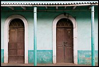 House painted green, Panjim. Goa, India (color)