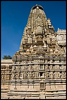 Parsvanatha, the largest of the Jain temple, Eastern Group. Khajuraho, Madhya Pradesh, India (color)