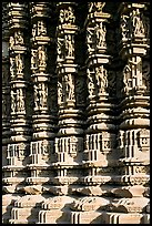 Carved columns, Duladeo Temple, Southern Group. Khajuraho, Madhya Pradesh, India (color)