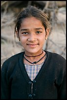Young villager. Khajuraho, Madhya Pradesh, India (color)