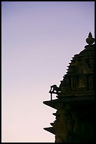Temple profile, Western Group, sunset. Khajuraho, Madhya Pradesh, India
