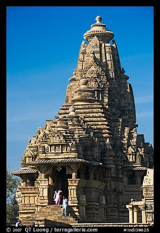 Picture/Photo: Entrance side of Lakshmana temple  Khajuraho