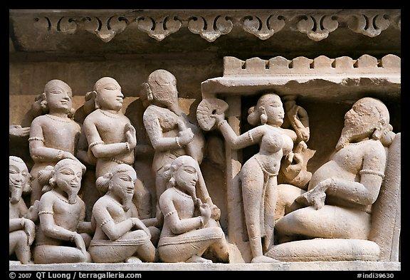 Picture/Photo: Sculpture of royal court scene, Lakshmana
