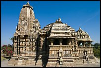 Devi Jagadamba temple seen from the front. Khajuraho, Madhya Pradesh, India (color)
