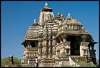 Front of Devi Jagadamba temple. Khajuraho, Madhya Pradesh, India ( color)