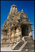 Visvanatha temple. Khajuraho, Madhya Pradesh, India (color)