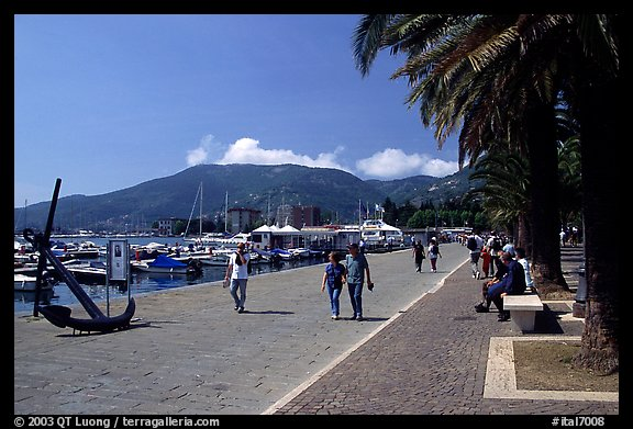 Waterfront promenade, La Spezia. Liguria, Italy (color)