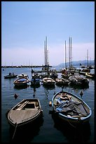 Small boats in harbor, La Spezia. Liguria, Italy (color)