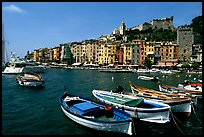 Boats village, and Harbor, Porto Venere. Liguria, Italy ( color)