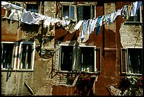 Hanging Laundry and walls, Castello. Venice, Veneto, Italy ( color)