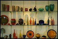 Murano Glasswork on exhibit. Venice, Veneto, Italy (color)