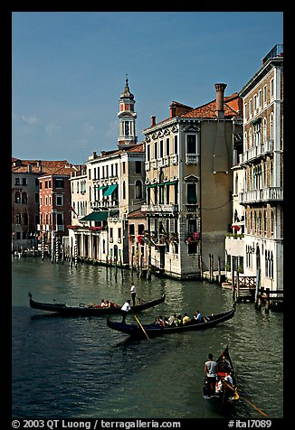 Grand Canal seen from the Rialto Bridge. Venice, Veneto, Italy (color)