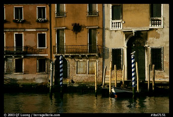 Facade along the Grand Canal. Venice, Veneto, Italy (color)