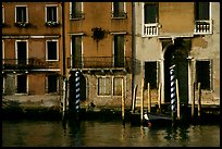 Facade along the Grand Canal. Venice, Veneto, Italy ( color)