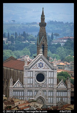 Santa Croce, seen from the Campanile. Florence, Tuscany, Italy (color)