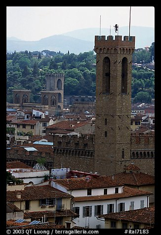 Bell tower, palazzo Vecchio. Florence, Tuscany, Italy (color)
