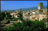 View of the town. San Gimignano, Tuscany, Italy (color)