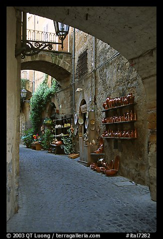 Old street and arches. Orvieto, Umbria (color)