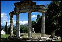 Columns of the small temple of Venus, Villa Hadriana. Tivoli, Lazio, Italy (color)