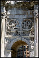 Arch of Constantin, Roman Forum. Rome, Lazio, Italy (color)