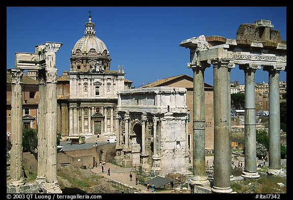 West end of the Roman Forum. Rome, Lazio, Italy