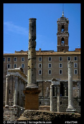 Roman Form and Palazzo Senatorio. Rome, Lazio, Italy (color)