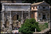 Arch of Septimus Severus, Roman Forum. Rome, Lazio, Italy (color)