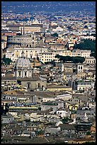 View of the city from Saint Peter's Dome. Rome, Lazio, Italy