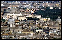 View of the city from Saint Peter's Dome. Rome, Lazio, Italy ( color)