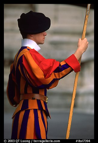 Swiss guard. Vatican City (color)