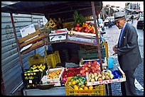 Street gruit vendor. Naples, Campania, Italy (color)