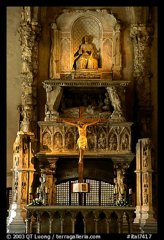 Altar inside a church. Naples, Campania, Italy (color)