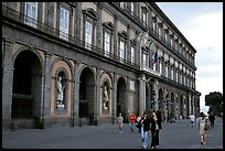 Facade of Palazzo Reale (Royal Palace). Naples, Campania, Italy ( color)