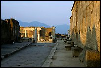 Via Marina at sunset. Pompeii, Campania, Italy ( color)
