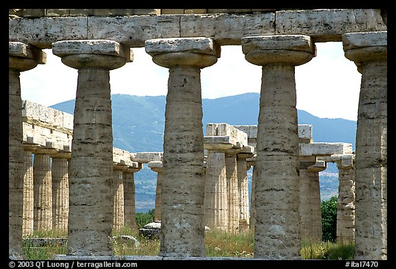 Basilica, or Temple of Hera (mid 6th century BC). Campania, Italy (color)