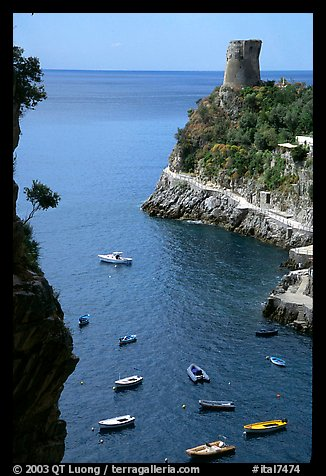 Cove. Amalfi Coast, Campania, Italy (color)