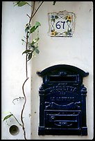 Mailbox and street number, Positano. Amalfi Coast, Campania, Italy (color)