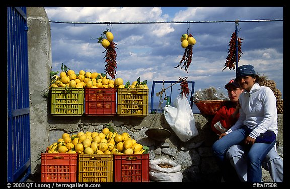 Lemon vendors. Amalfi Coast, Campania, Italy (color)