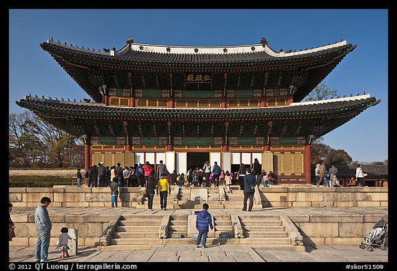 Injeong-jeon, Changdeok Palace. Seoul, South Korea (color)