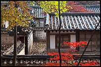 Fall foliage and historic architecture, Yeongyeong-dang, Changdeokgung Palace. Seoul, South Korea ( color)