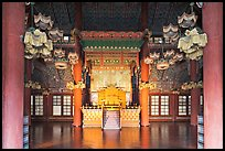 Throne room, Changdeokgung Palace. Seoul, South Korea ( color)