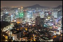 Elevated view of Jung Gu high-rises from Namsan. Seoul, South Korea ( color)