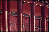 Pilars and bays of main shrine, Jongmyo. Seoul, South Korea (color)