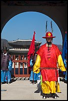 Commander of the Gate Guard (Sumunjang), Gyeongbokgung. Seoul, South Korea (color)