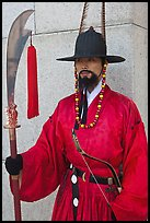 Gapsa (regular guard from Joseon dynasty), Gyeongbokgung. Seoul, South Korea (color)