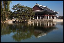 Gyeongghoe-ru pavilion and pond. Seoul, South Korea ( color)