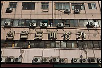 Facade with air conditioning machines. Seoul, South Korea ( color)